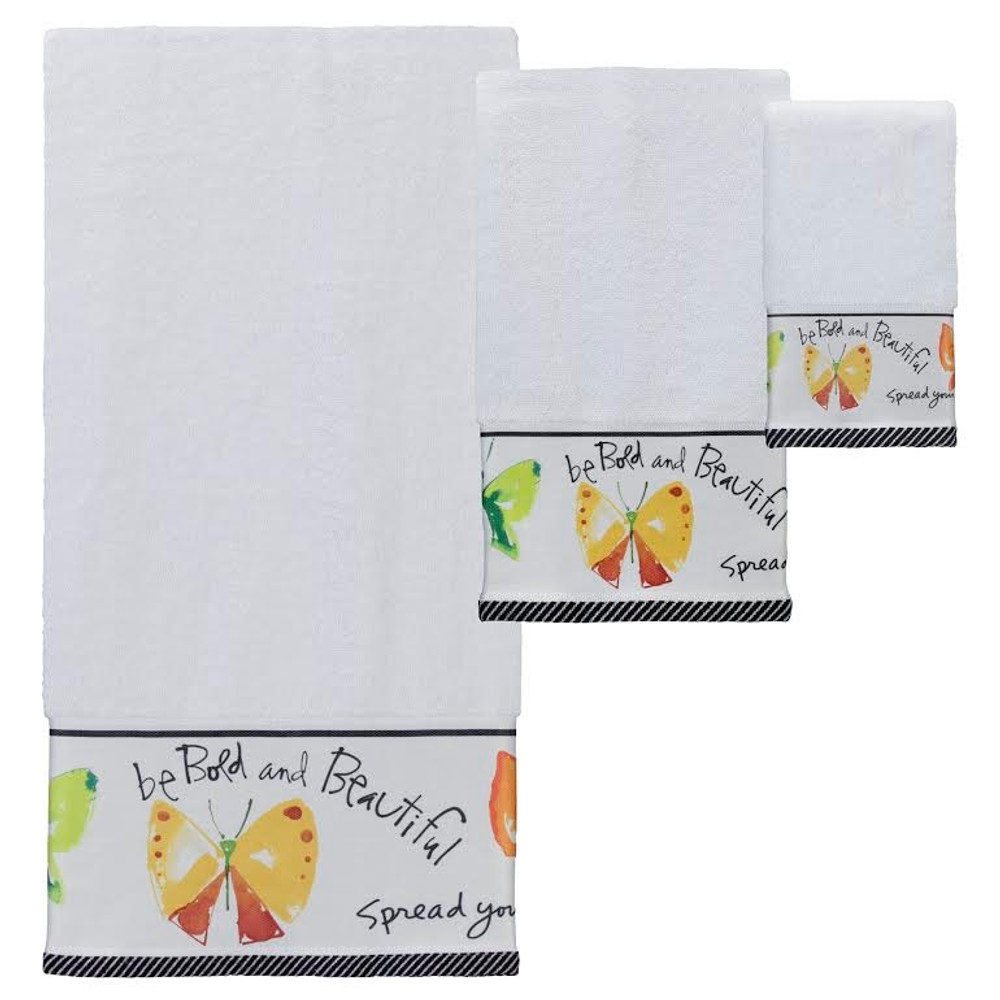 "Butterfly Towel Set ""Flutterby"" 