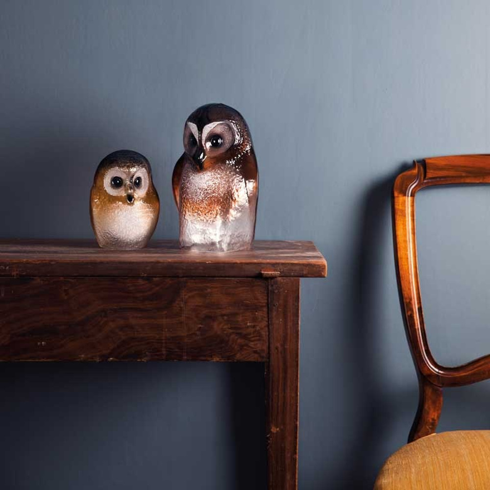Owl Brown Crystal Sculpture | 34245 | Mats Jonasson Maleras -3