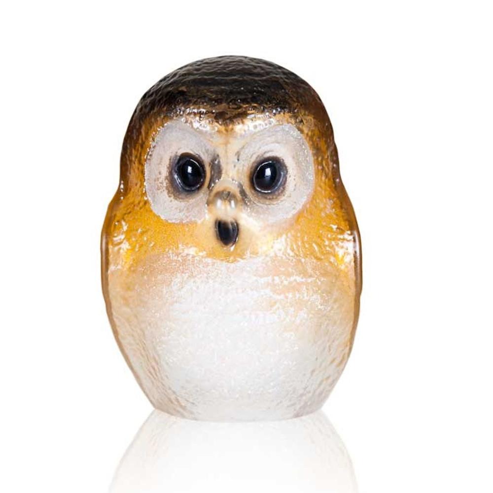 Owl Brown Crystal Sculpture   34244   Mats Jonasson Maleras -2