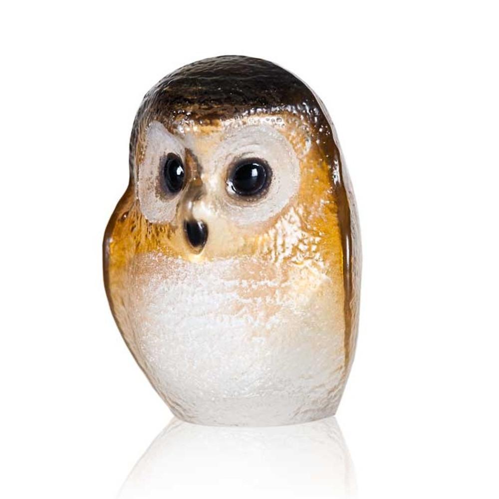 Owl Brown Crystal Sculpture   34244   Mats Jonasson Maleras