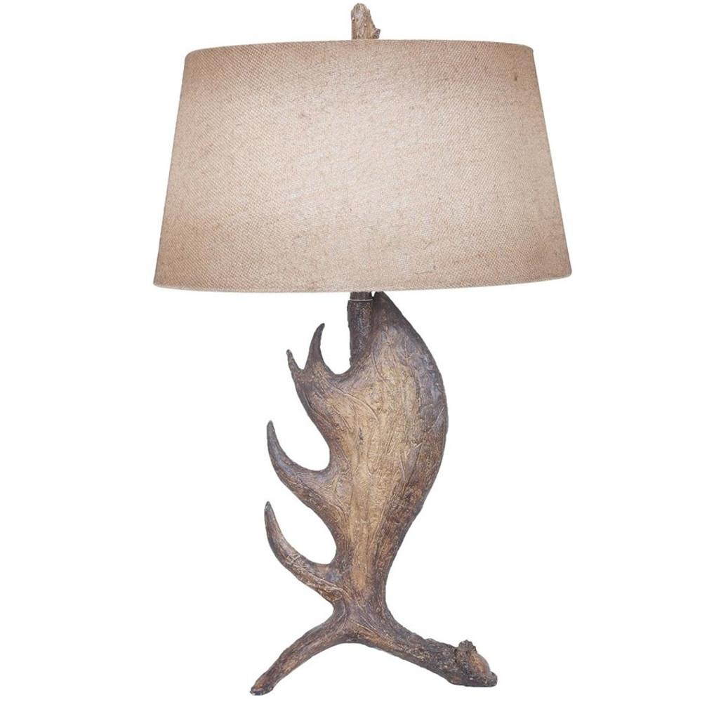 Moose Antler Table Lamp   Crestview Collection   CVAVP110