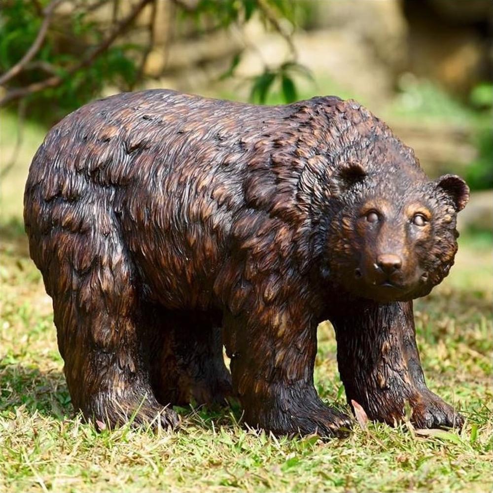 Bear Looking Garden Sculpture   50751   SPI Home