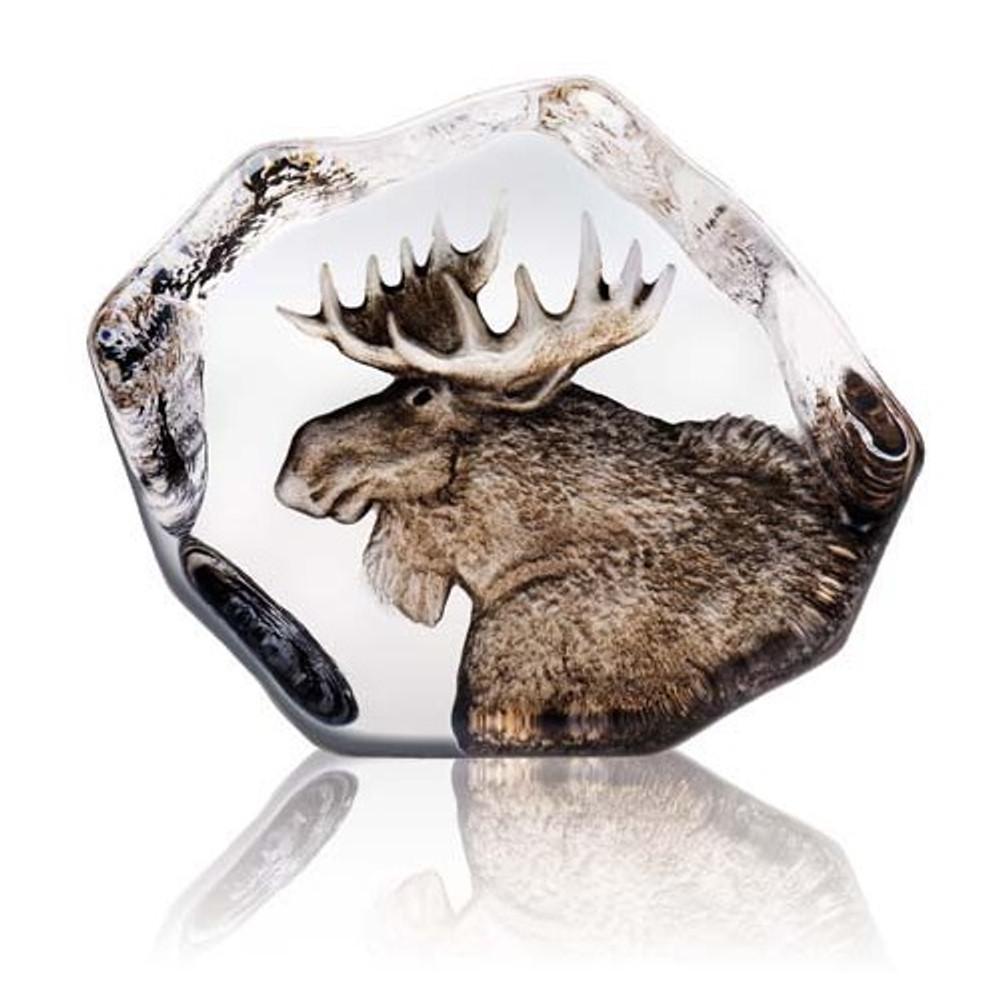 Moose Crystal Sculpture | 33952 | Mats Jonasson Maleras