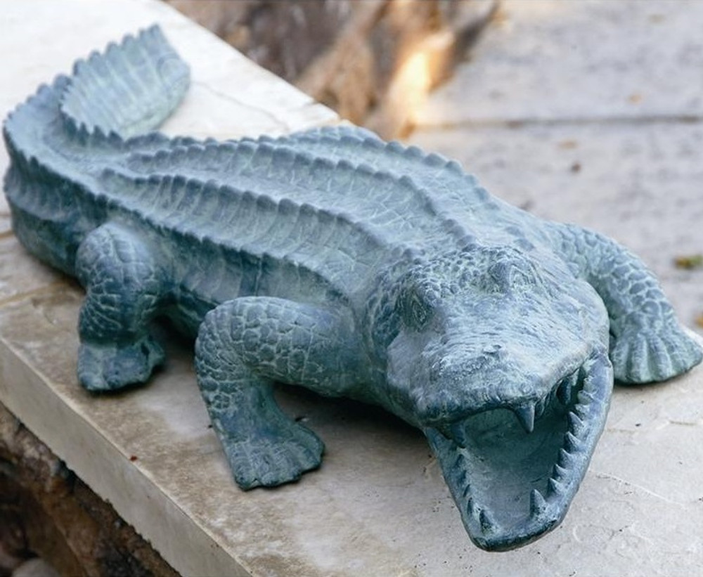 Mean Old Alligator Garden Sculpture | 30211 | SPI Home