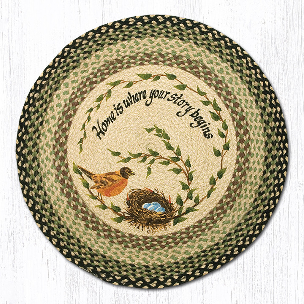 Robins Nest Round Braided Rug | Capitol Earth Rugs | RP-121