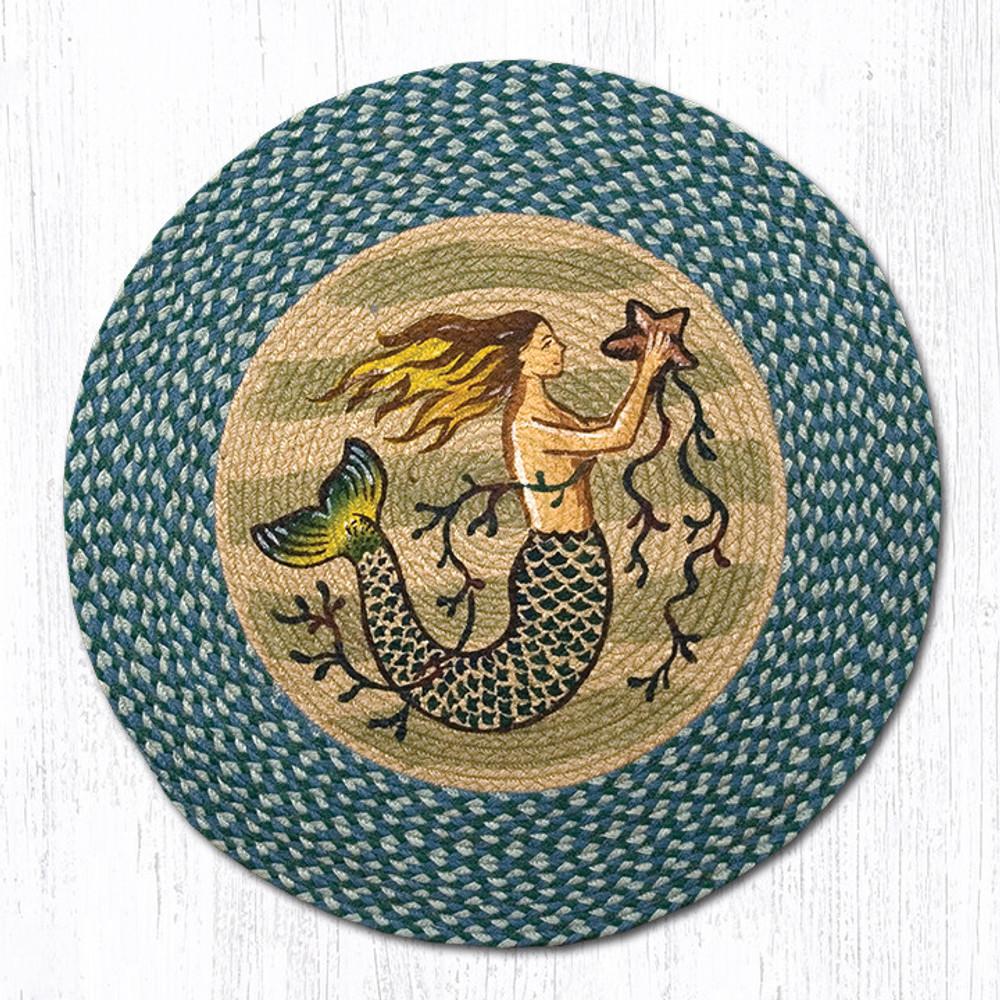 Mermaid Round Braided Rug | Capitol Earth Rugs | RP-245