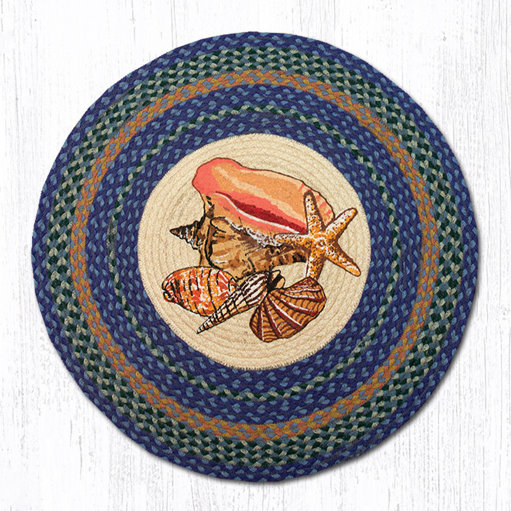 Shell Round Braided Rug | Capitol Earth Rugs | RP-353