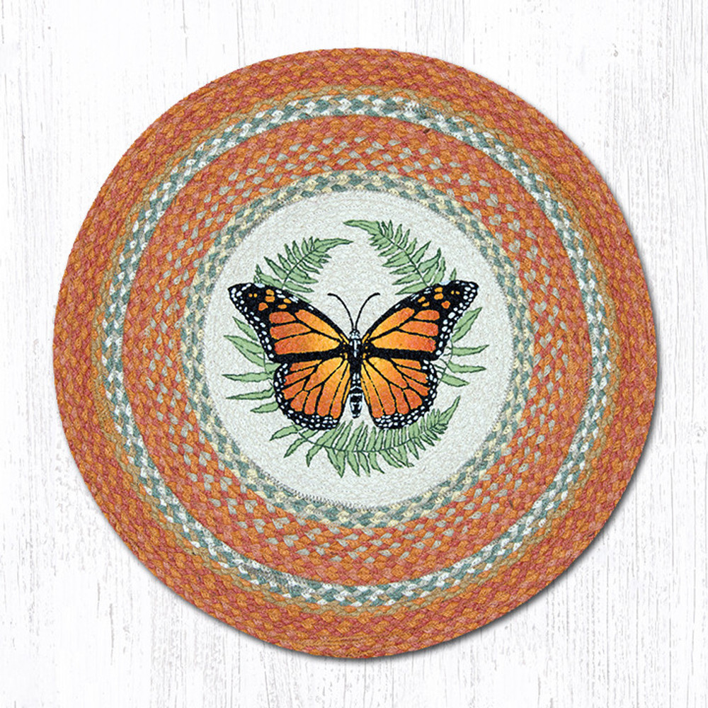 Butterfly Round Braided Rug | Capitol Earth Rugs | RP-382