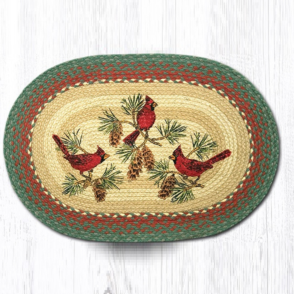 Cardinals Oval Braided Rug | Capitol Earth Rugs | OP-25C