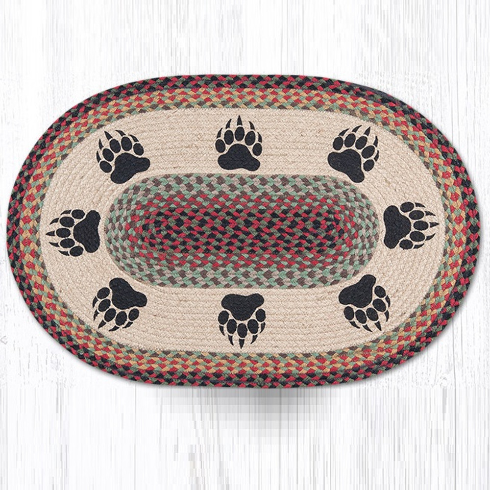 Bear Paw Oval Braided Rug | Capitol Earth Rugs | OP-81BP