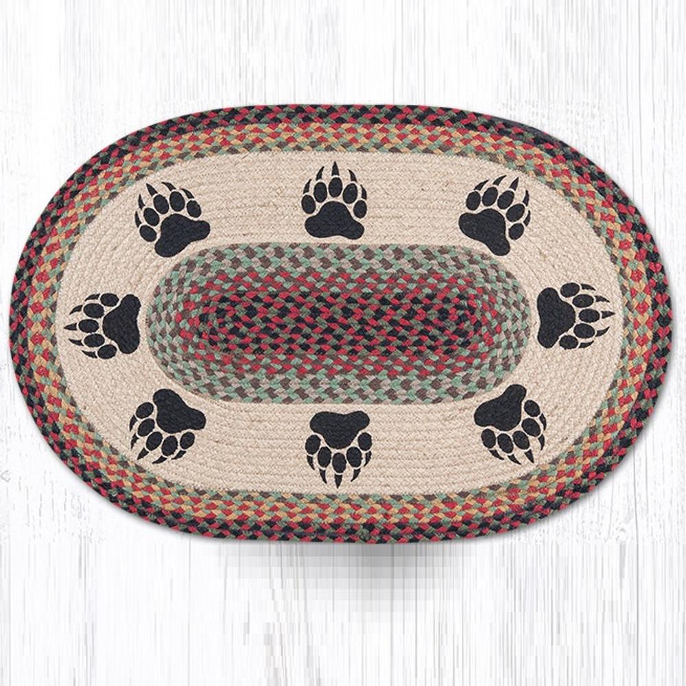 Bear Paw Oval Braided Rug | Capitol Earth Rugs | OP-81BP