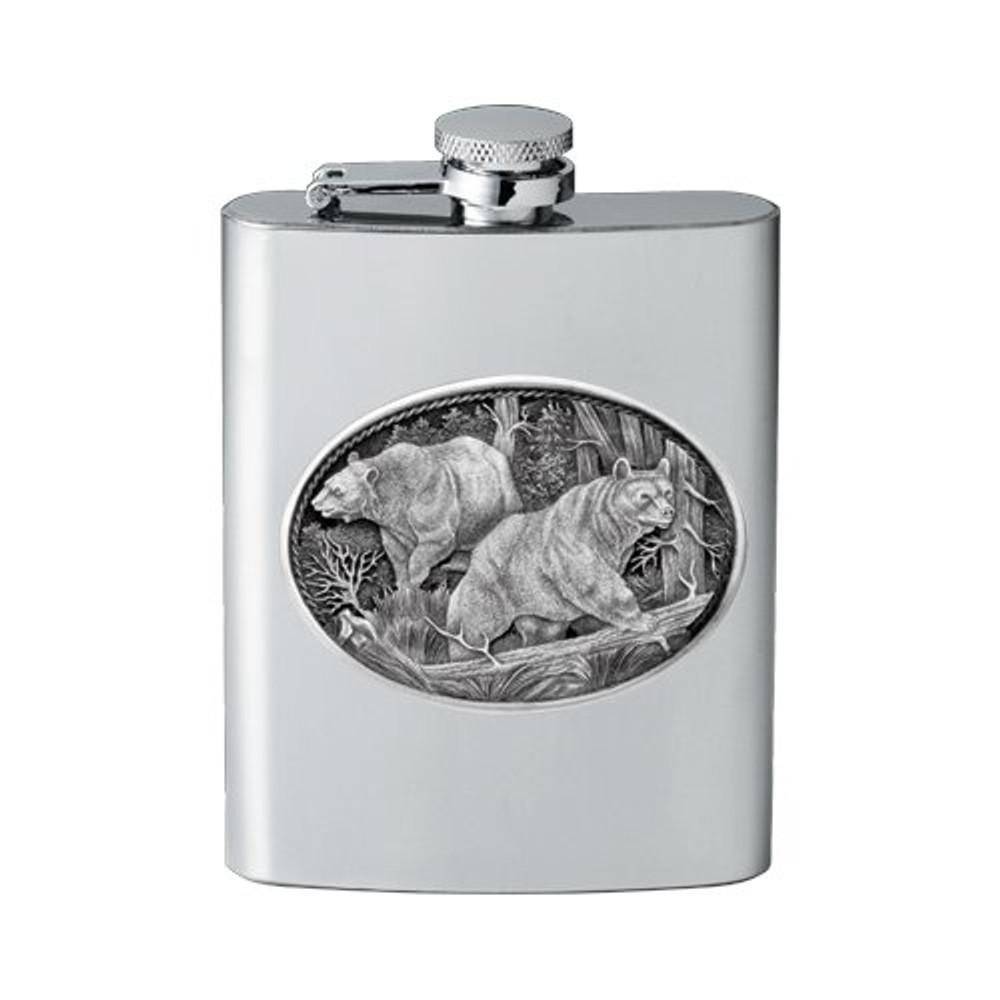 Black Bear Flask | Heritage Pewter | HPIFSK113
