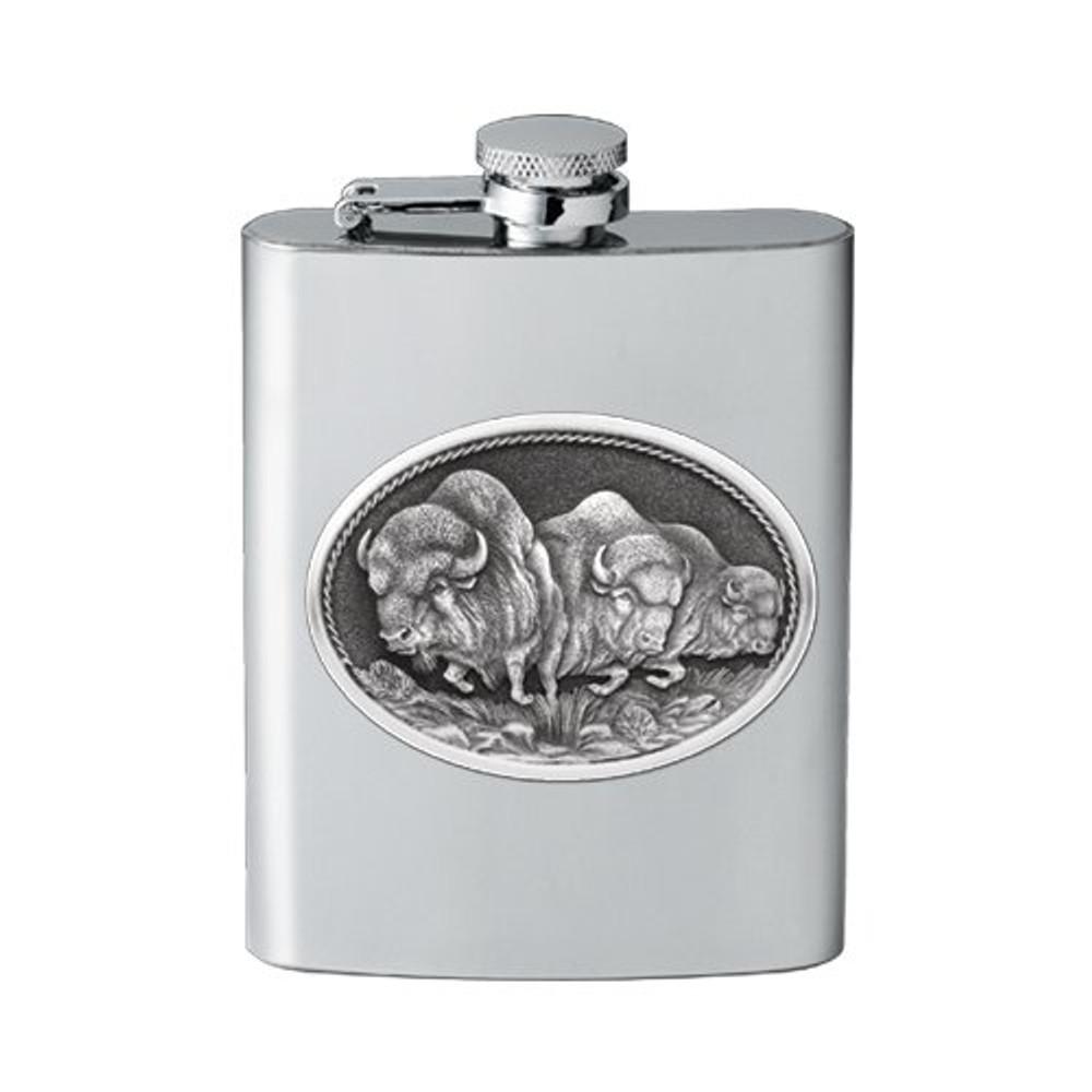 Buffalo Flask | Heritage Pewter | HPIFSK101