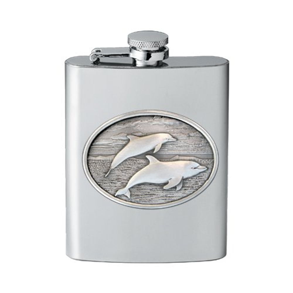 Dolphin Flask   Heritage Pewter   HPIFSK135