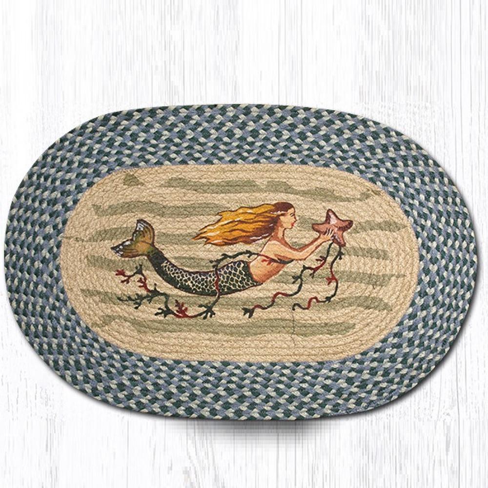 Mermaid Oval Braided Rug | Capitol Earth Rugs | OP-245