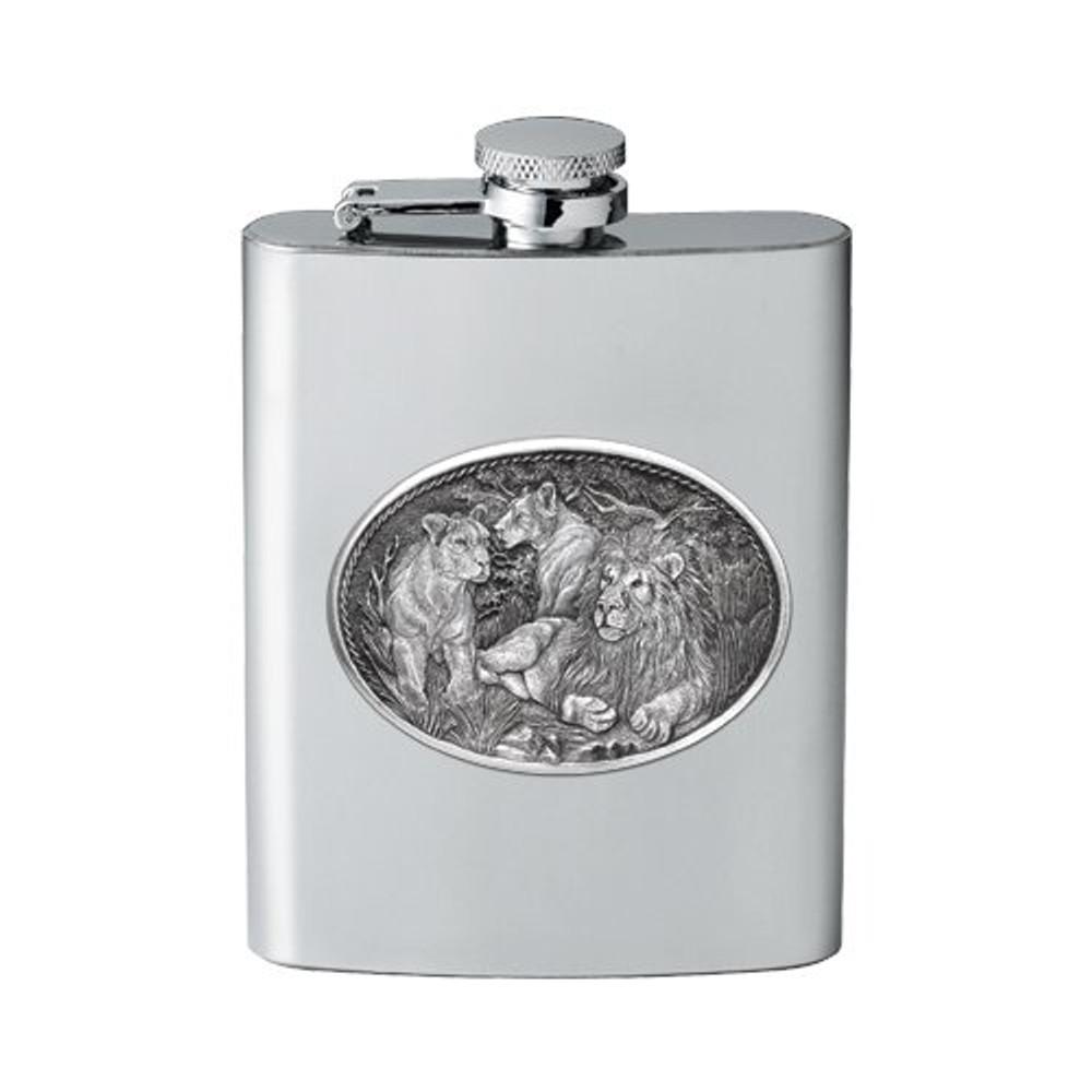 Lion Flask | Heritage Pewter | HPIFSK119
