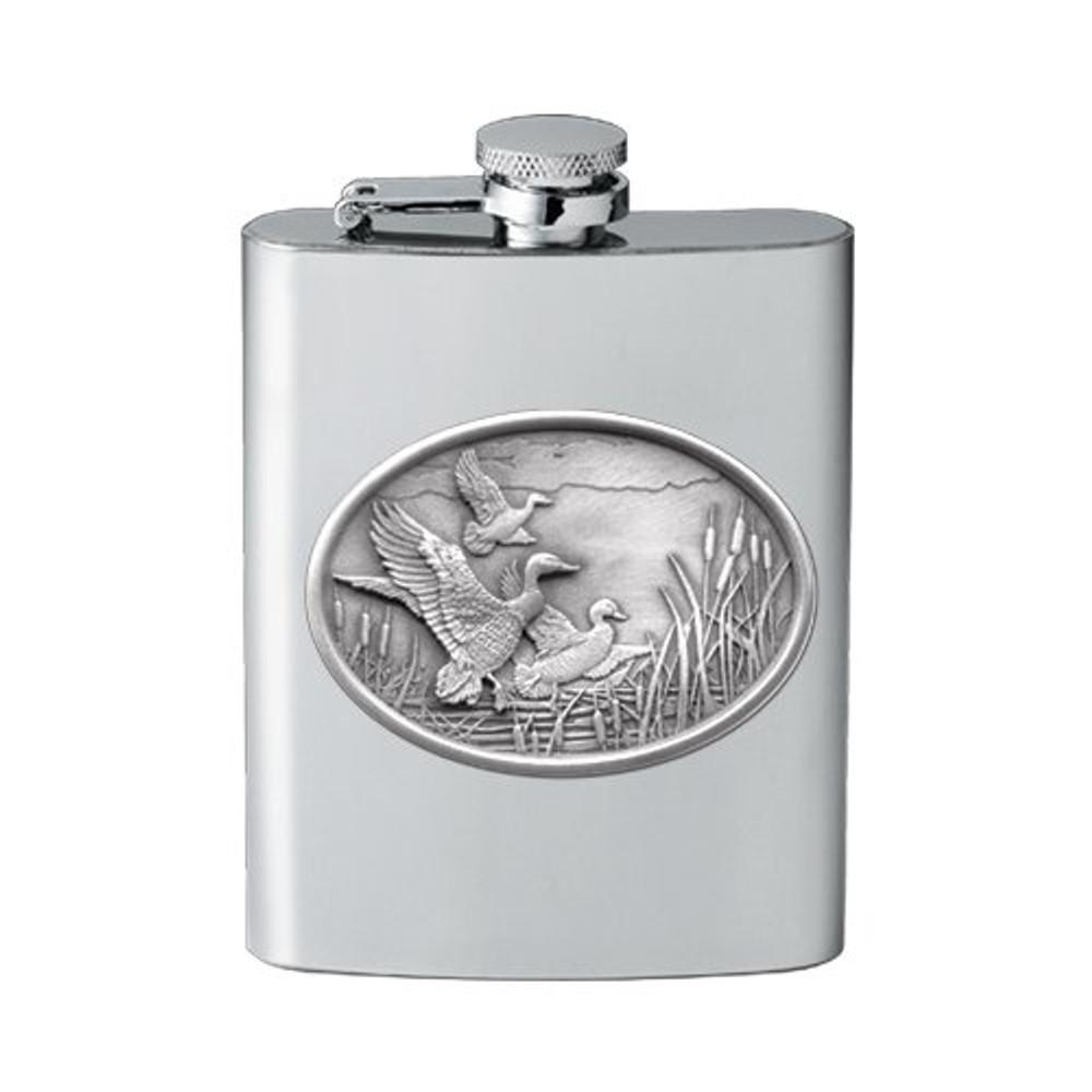 Mallard Duck Flask | Heritage Pewter | HPIFSK122