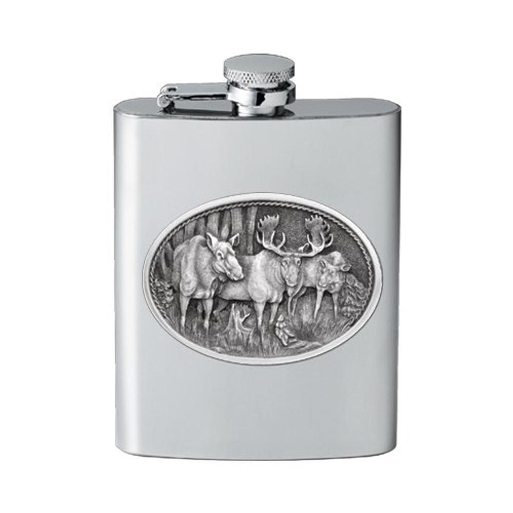 Moose Flask | Heritage Pewter | HPIFSK103