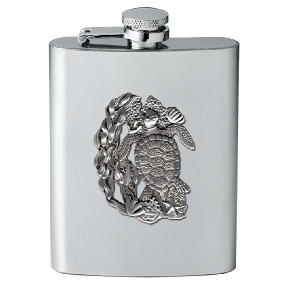 Sea Turtle Flask | Heritage Pewter | HPIFSK4146