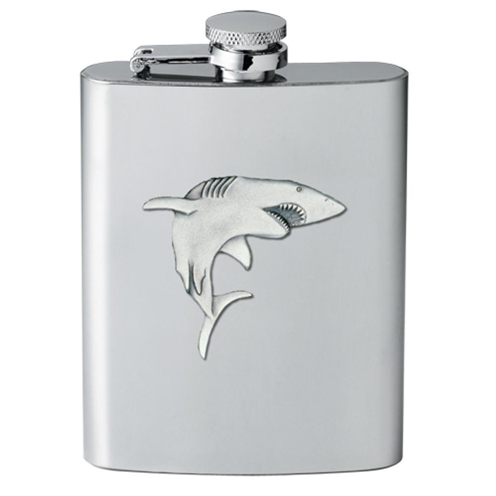 Shark Flask | Heritage Pewter | HPIFSK3350
