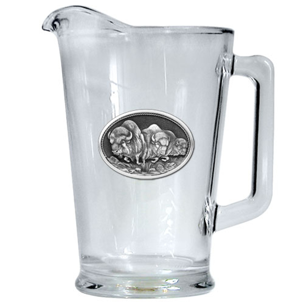 Buffalo Beer Pitcher   Heritage Pewter   HPIPI101