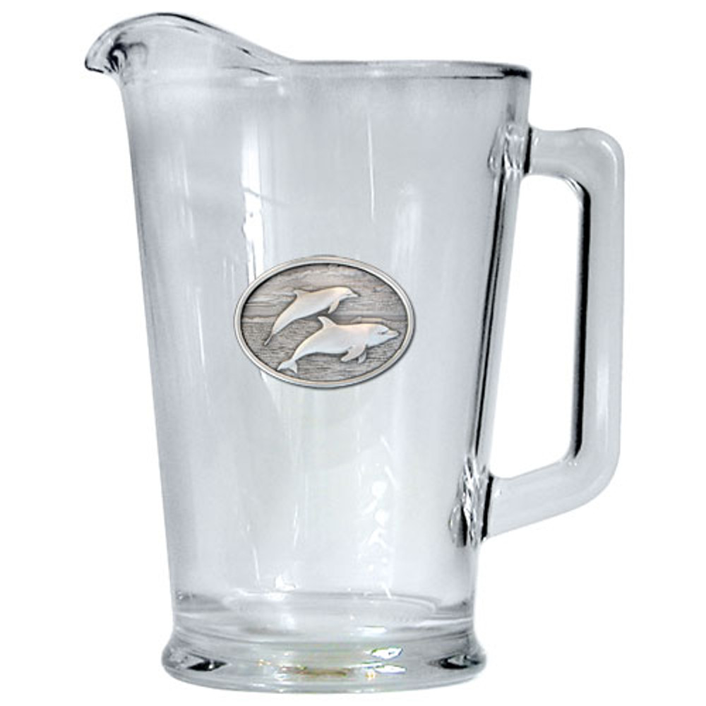 Dolphin Beer Pitcher   Heritage Pewter   HPIPI135