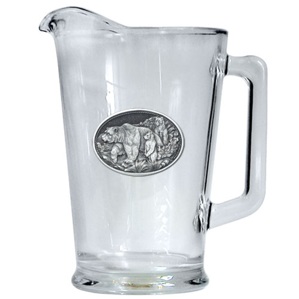 Grizzly Bear Beer Pitcher   Heritage Pewter   HPIPI105