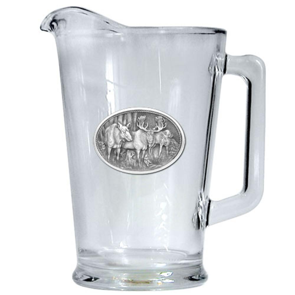 Moose Beer Pitcher | Heritage Pewter | HPIPI103