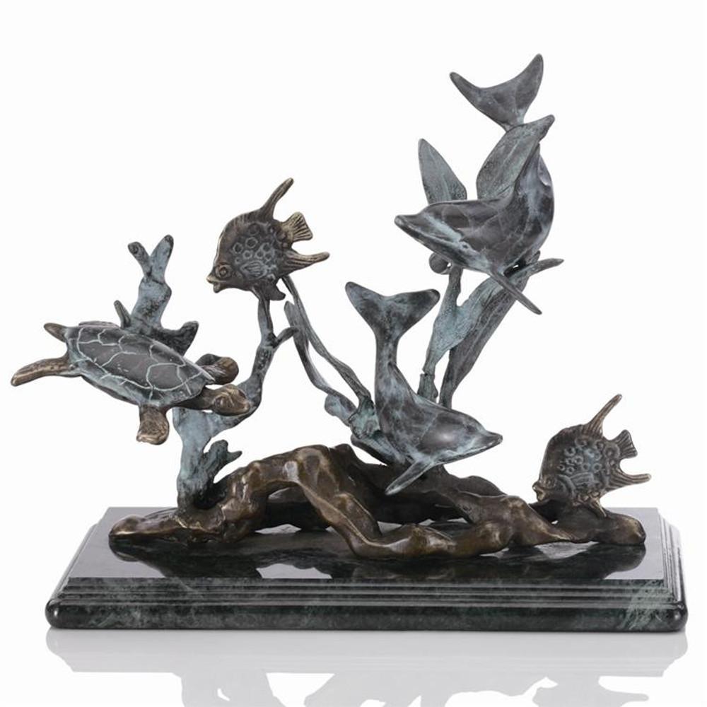 Dolphin Seaworld Sculpture   30288   SPI Home