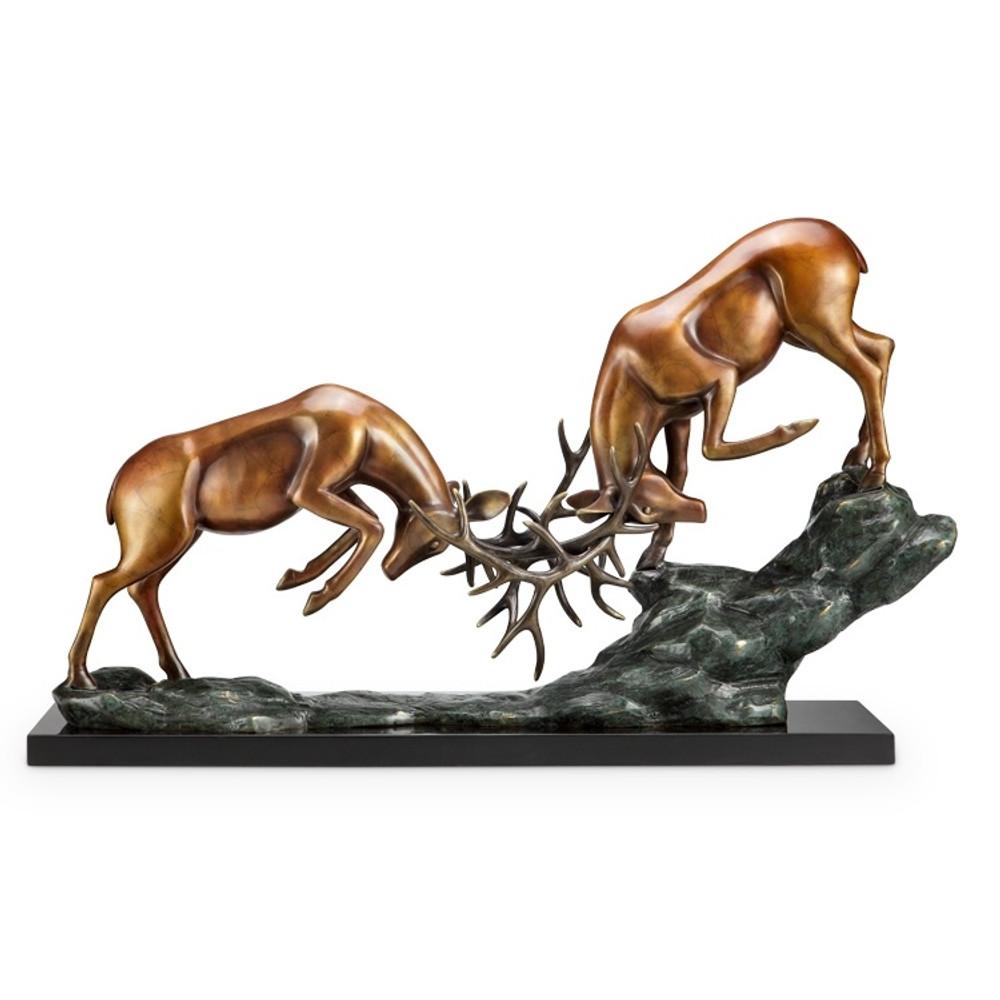 Deer Sculpture Clash of Antlers | 80335 | SPI Home