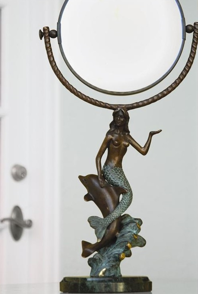 Mermaid & Dolphin Vanity Mirror | 30392 | SPI Home