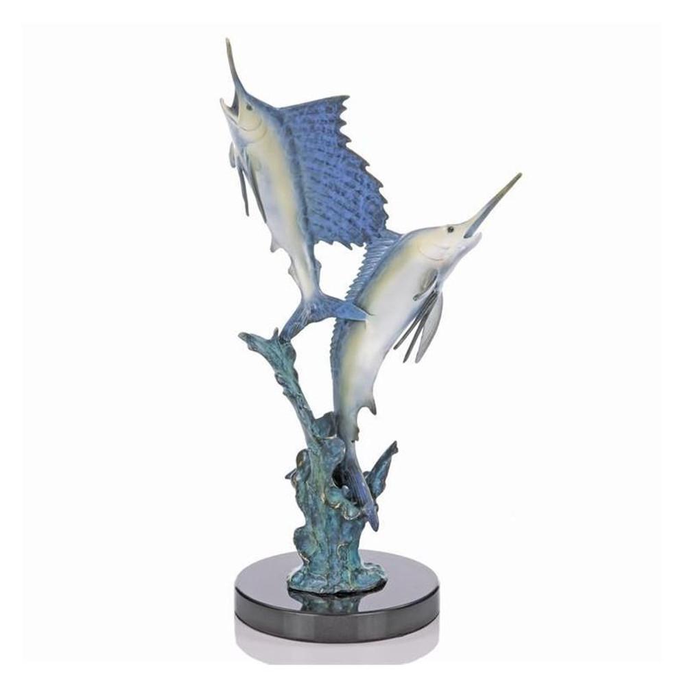 "Marlin-Sailfish Sculpture ""Islamorada Two Step"" | 80122 | SPI Home"