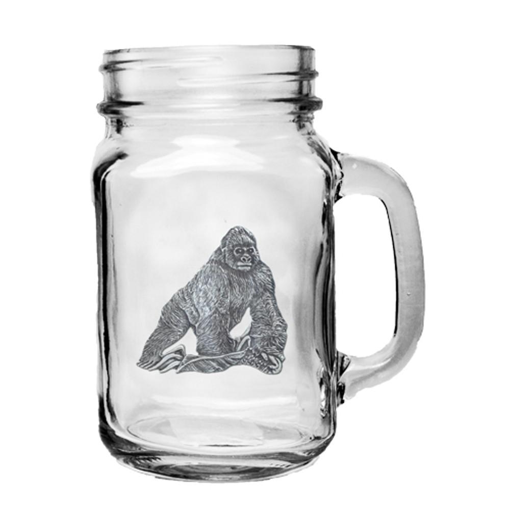 Gorilla Mason Jar Set of 2 | Heritage Pewter | HPIMJM3998
