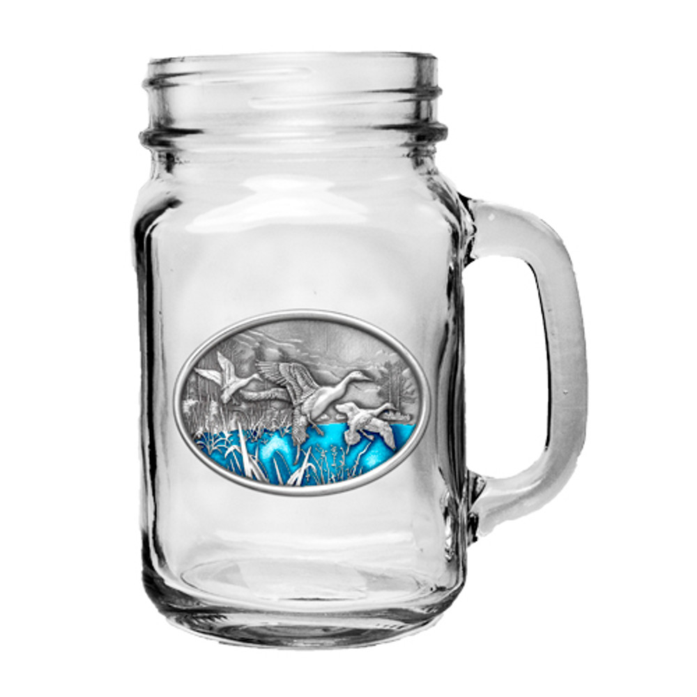 Pintail Duck Mason Jar Mug Set of 2 | Heritage Pewter | HPIMJM125EB