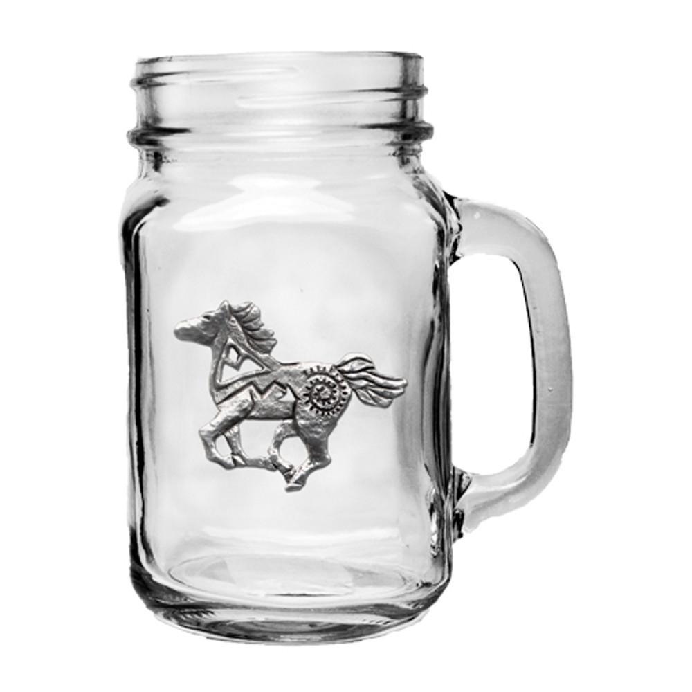 Horse Tribal Mason Jar Mug Set of 2 | Heritage Pewter | HPIMJM4229