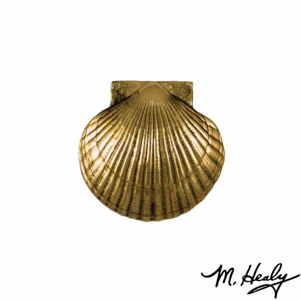 Bay Scallop Brass Door Knocker | MHS31 | Michael Healy