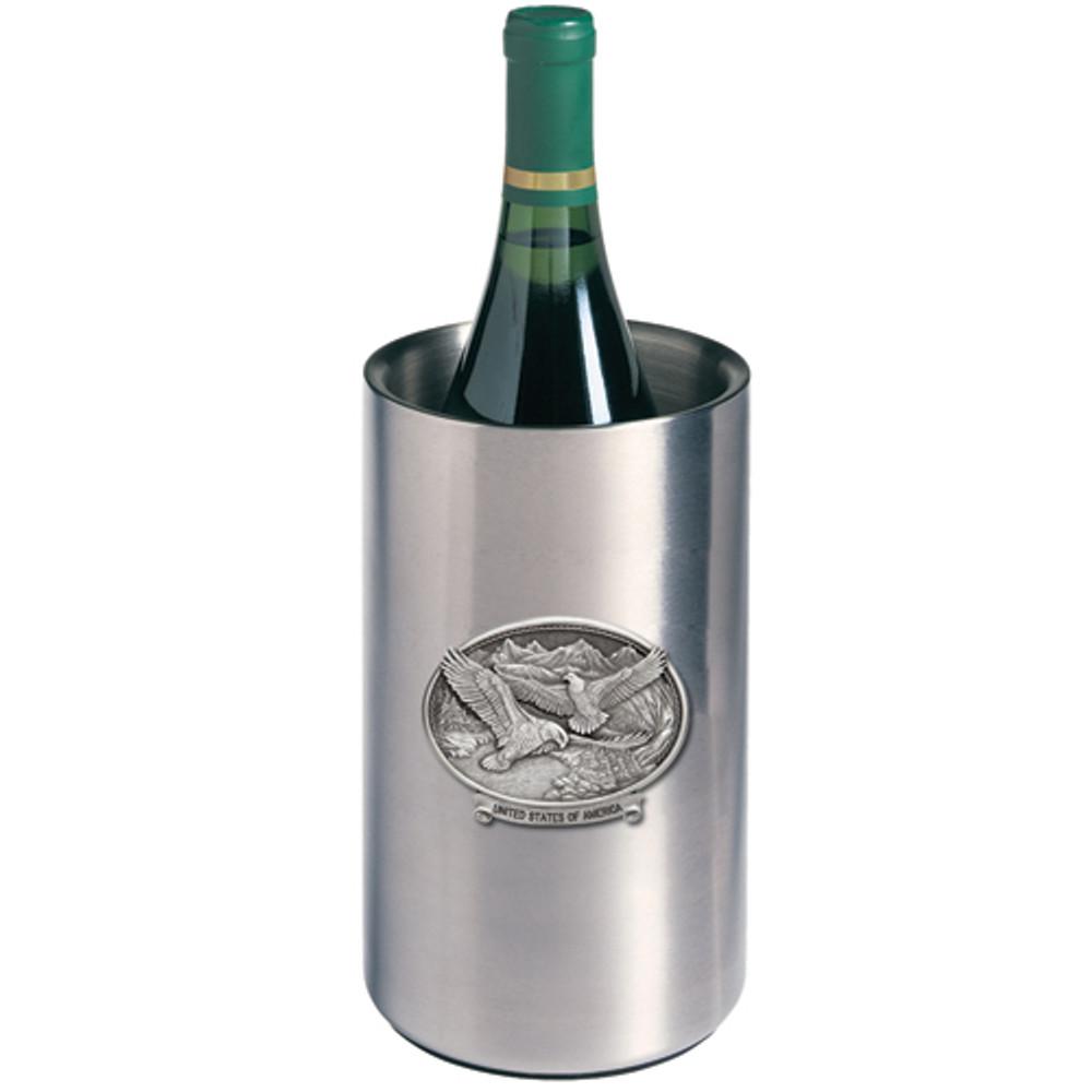 Bald Eagle USA Wine Chiller | Heritage Pewter | HPIWNC109USA