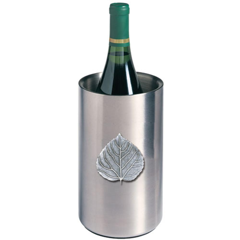 Aspen Leaf Wine Chiller   Heritage Pewter   HPIWNC4051