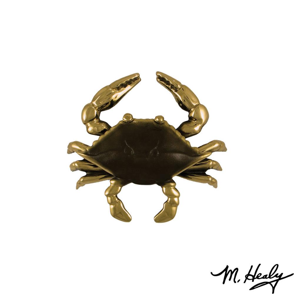 Blue Crab Brass Door Knocker   MHS131   Michael Healy