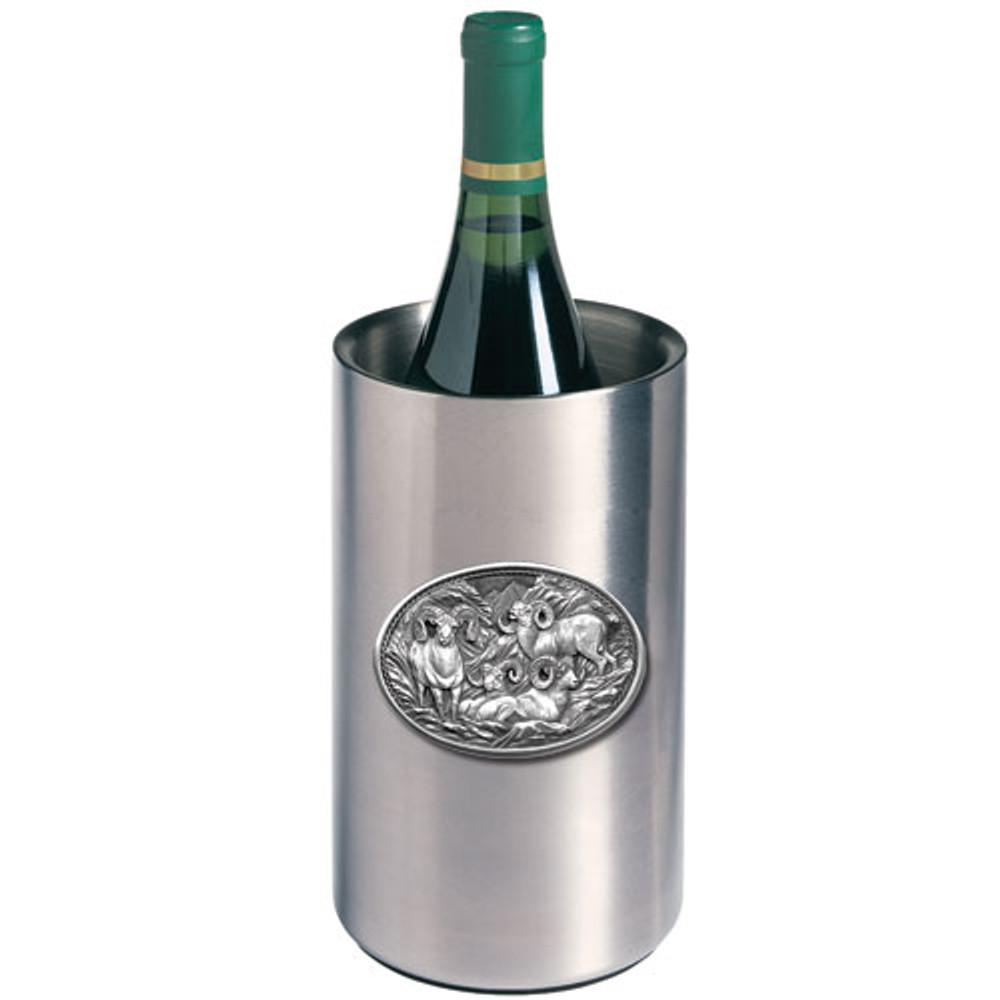 Bighorn Sheep Wine Chiller | Heritage Pewter | HPIWNC115