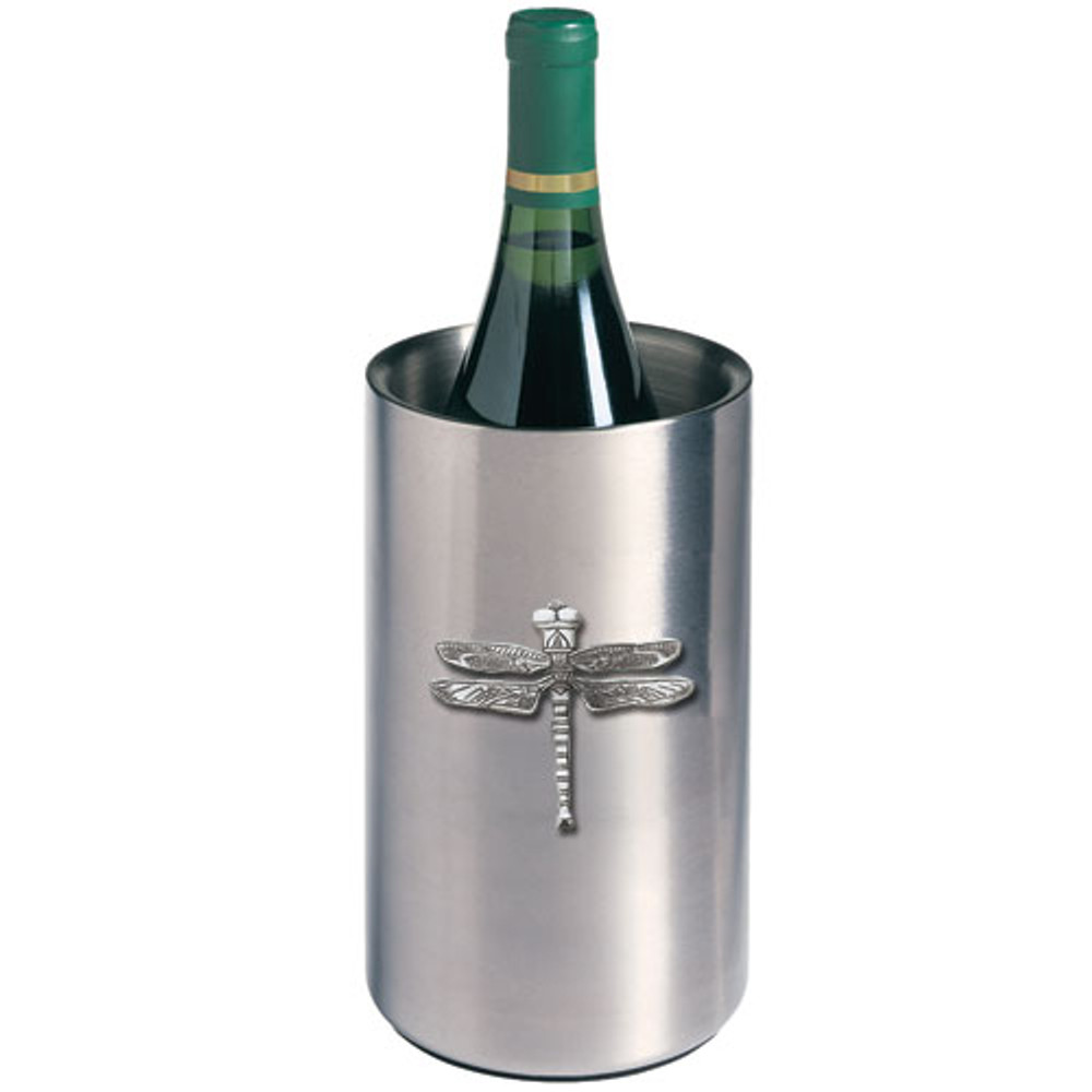 Dragonfly Wine Chiller | Heritage Pewter | HPIWNC4080
