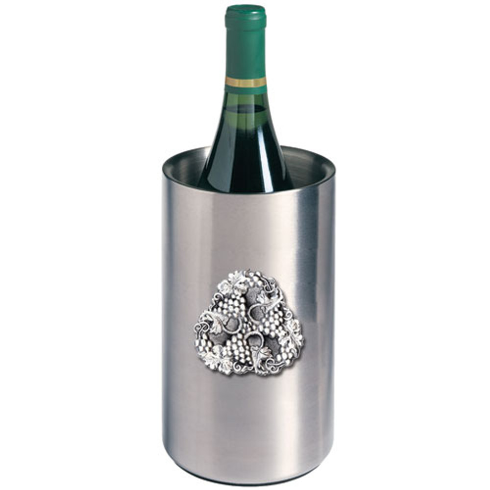 Grape Wine Chiller | Heritage Pewter | HPIWNC4050