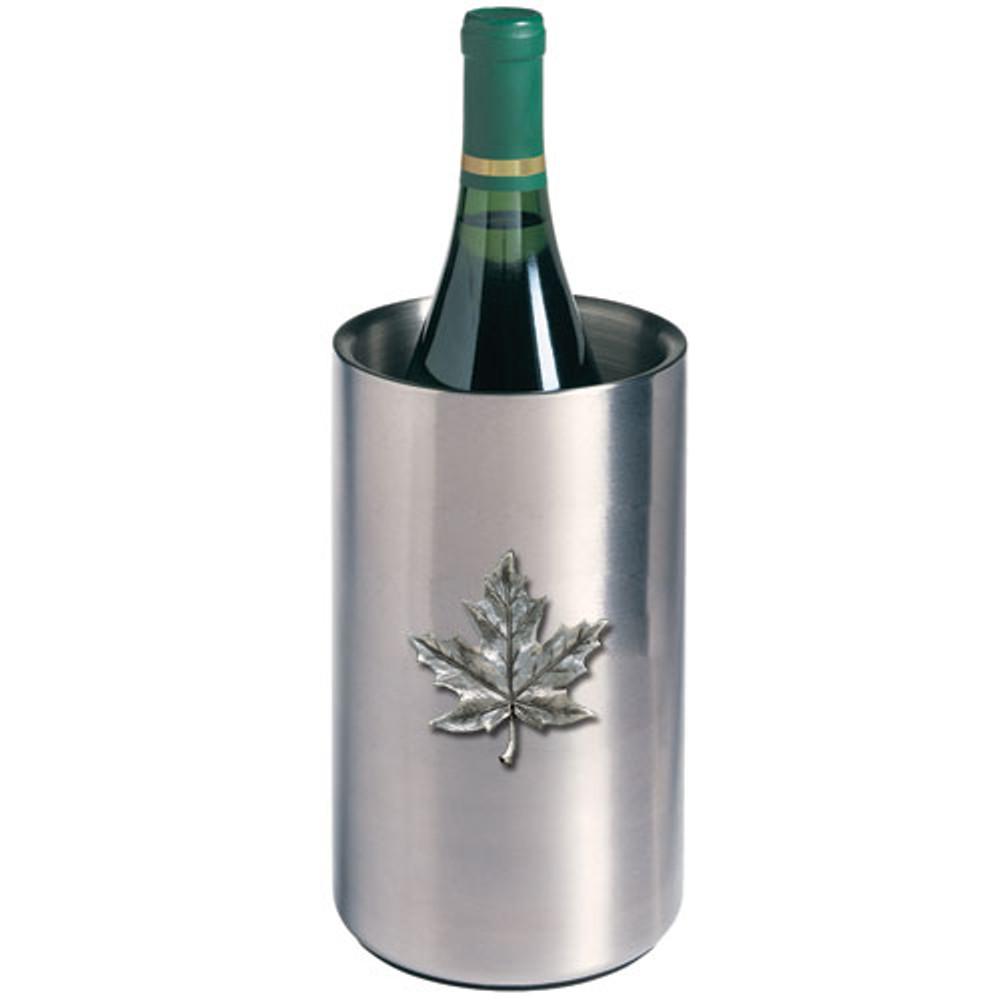 Maple Leaf Wine Chiller | Heritage Pewter | HPIWNC4111