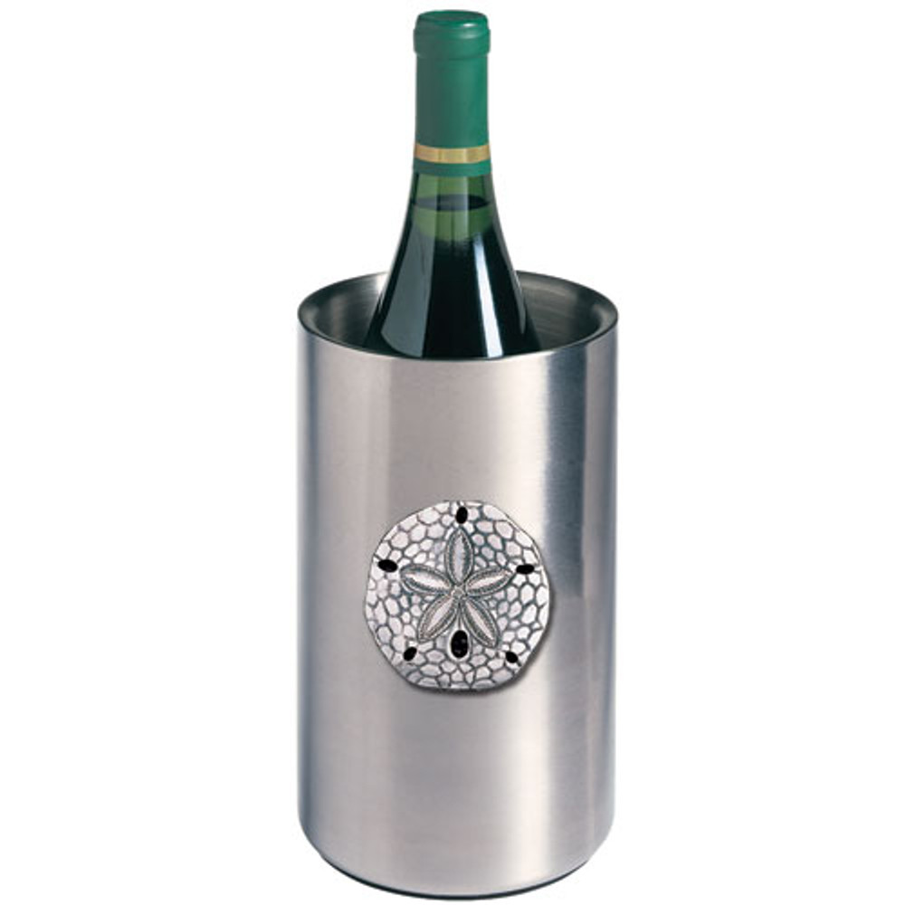 Sand Dollar Wine Chiller | Heritage Pewter | HPIWNC3300