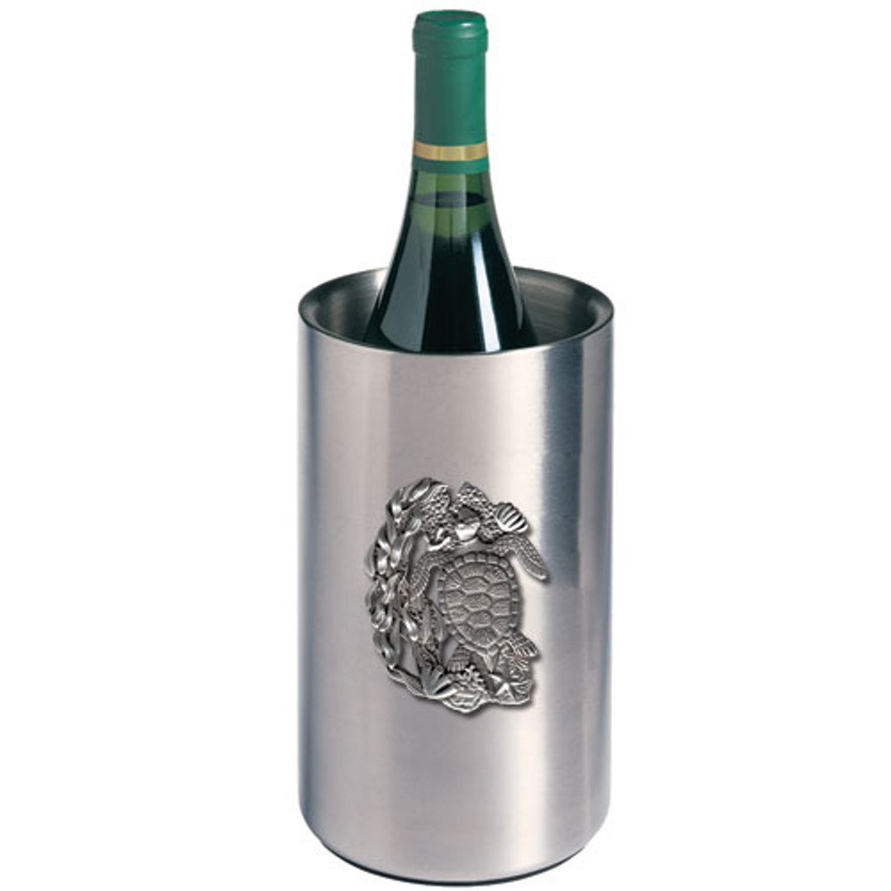 Sea Turtle Wine Chiller | Heritage Pewter | HPIWNC4146