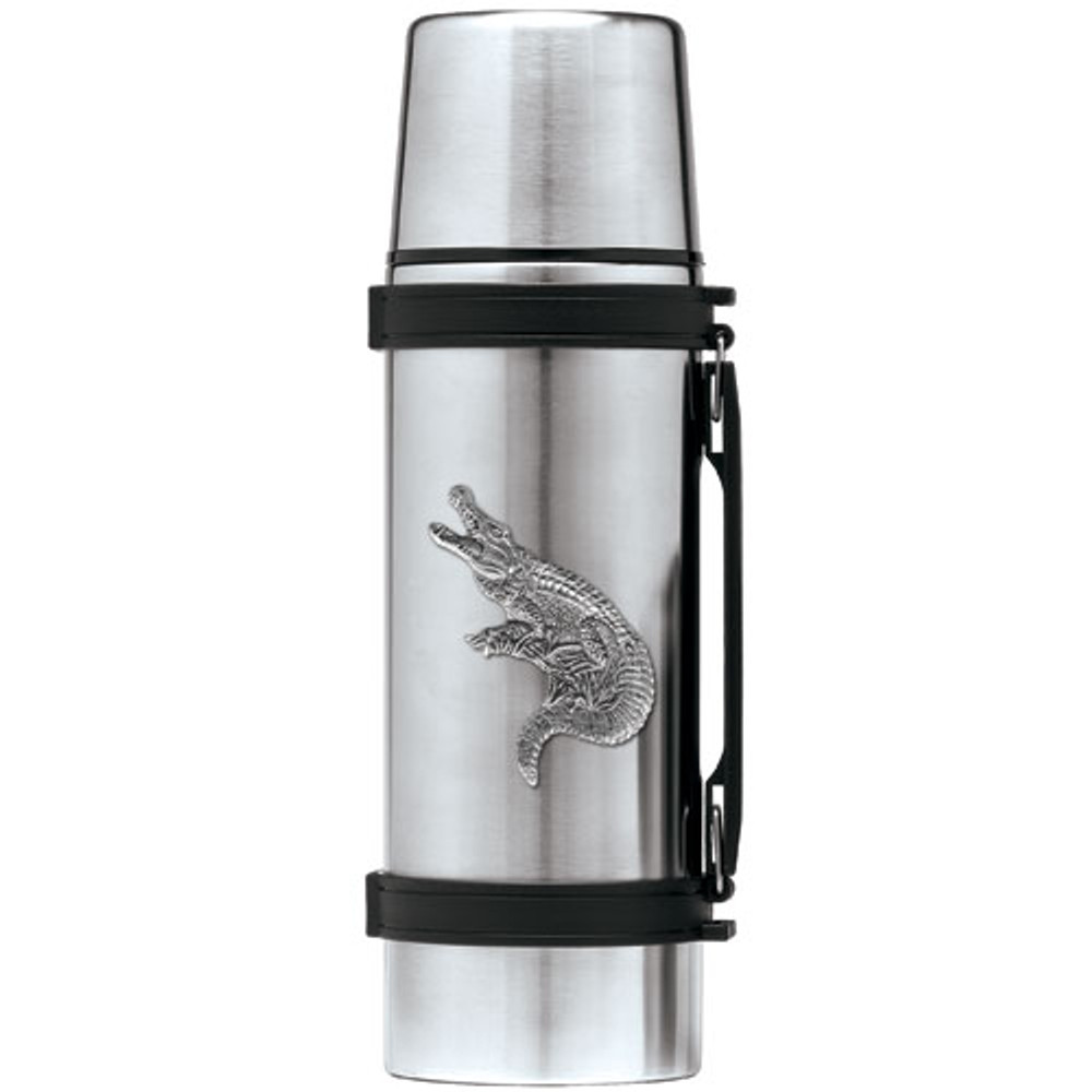 Alligator Thermos   Heritage Pewter   HPITHS3770