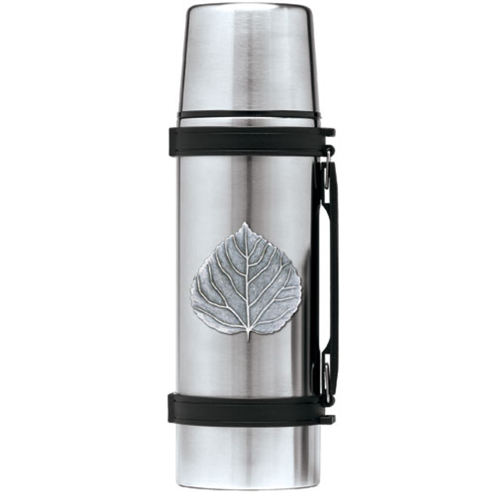 Aspen Leaf Thermos | Heritage Pewter | HPITHS4051