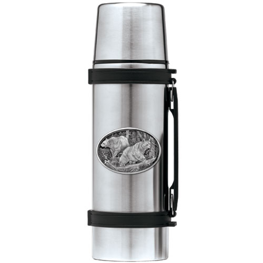 Black Bear Thermos | Heritage Pewter | HPITHS113