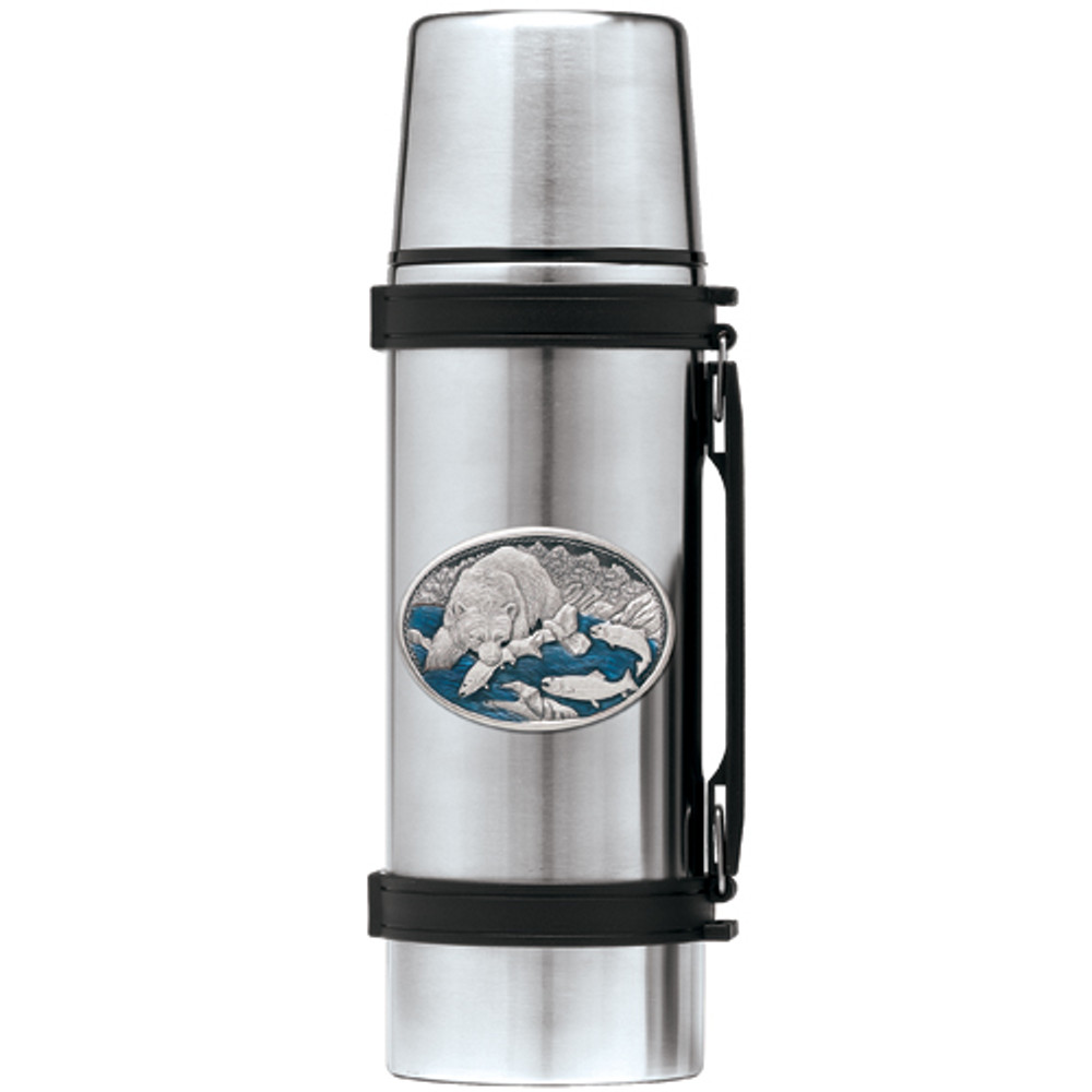 Brown Bear Thermos | Heritage Pewter | HPITHS118EB