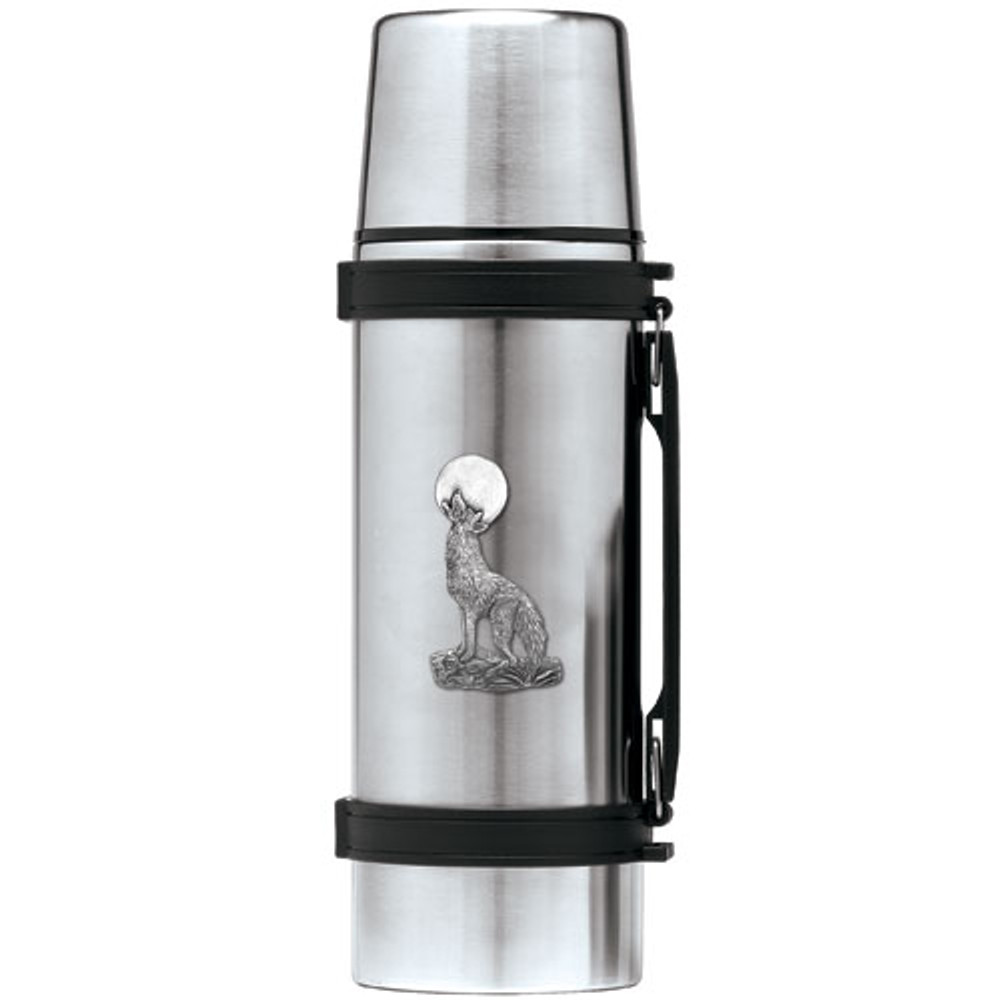 Coyote Thermos | Heritage Pewter | HPITHS3130